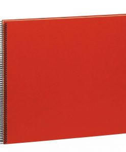 Spiral Album Economy Large,50 cream white pages,photo mounting board, efalin cover, red | 4250540901008 | 352930