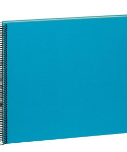 Spiral Album Economy Large,50cream white pages,photo mounting board,efalin cover,turquoise | 4250540901114 | 352943