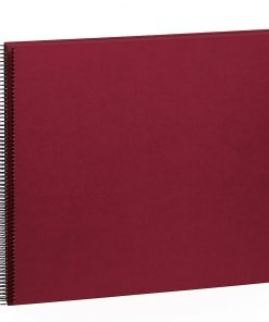 Spiral Album Economy Large Black, 50black pages,photo mounting board,efalin cover,burgundy | 4250053626917 | 352901
