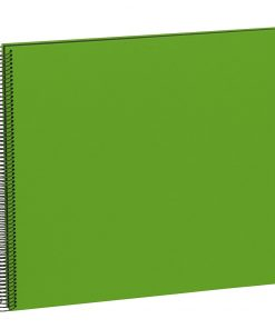 Spiral Album Economy Large Black, 50black pages,photo mounting board, efalin cover, lime | 4250053626948 | 352907