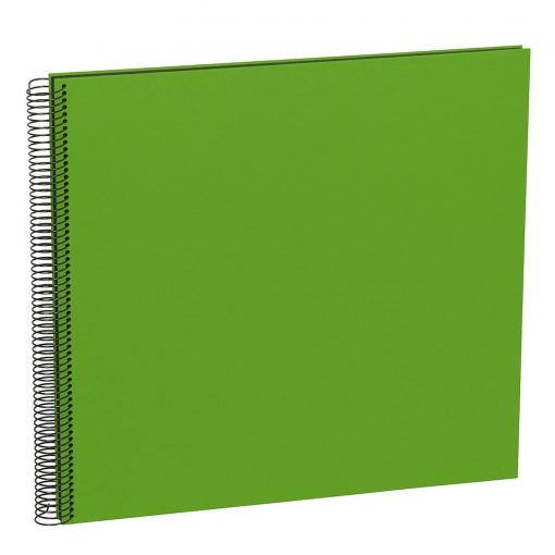 Spiral Album Economy Large Black, 50black pages,photo mounting board, efalin cover, lime   4250053626948   352907