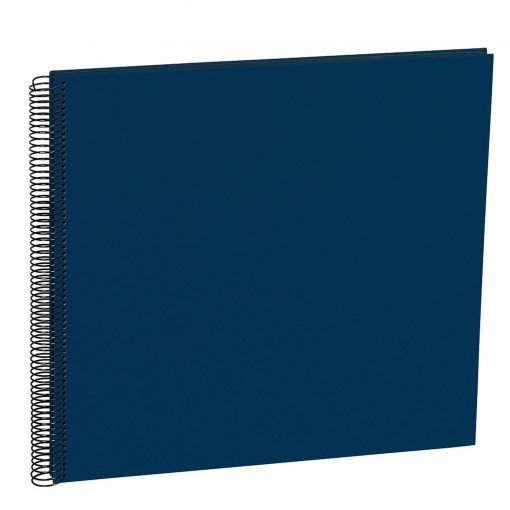 Spiral Album Economy Large Black, 50black pages,photo mounting board, efalin cover, marine   4250053663011   352899