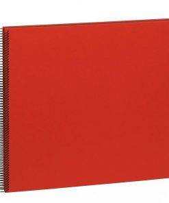 Spiral Album Economy Large Black, 50black pages,photo mounting board, efalin cover, red | 4250053626900 | 352900
