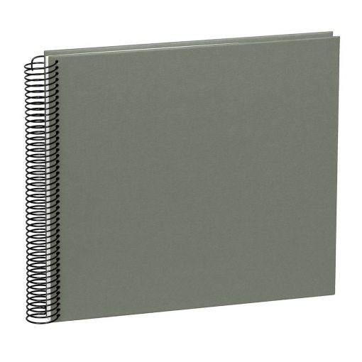 Spiral Album Economy Medium, 40 cream white p., photo mounting board, efalin cover, grey | 4250540901213 | 352955