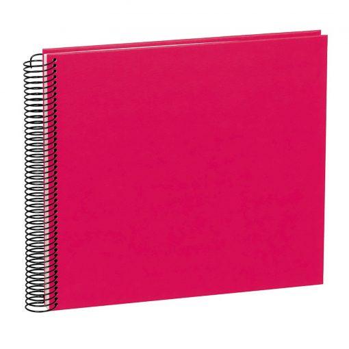 Spiral Album Economy Medium, 40 cream white p., photo mounting board, efalin cover, pink   4250540901169   352948