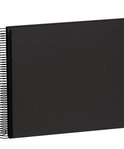 Spiral Album Economy Medium Black, 40 black p., photo mounting board, efalin cover, black | 4250053626986 | 352918