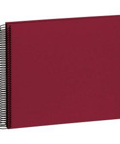 Spiral Album Economy Medium Black, 40 black p., photo mounting board,efalin cover,burgundy | 4250053626979 | 352916