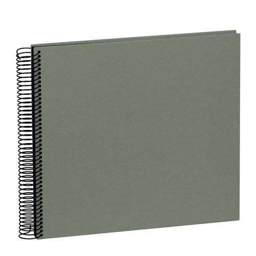 Spiral Album Economy Medium Black, 40 black p., photo mounting board, efalin cover, grey   4250053625385   352923