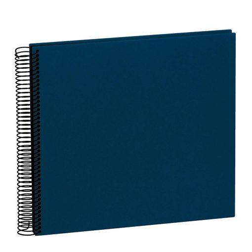 Spiral Album Economy Medium Black, 40 black p., photo mounting board, efalin cover, marine   4250053663097   352914