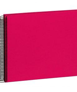 Spiral Album Economy Medium Black, 40 black p., photo mounting board, efalin cover, pink | 4250053663103 | 352917
