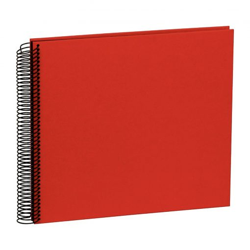 Spiral Album Economy Medium Black, 40 black p., photo mounting board, efalin cover, red | 4250053626962 | 352915