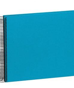Spiral Album Economy Medium Black, 40 black p.,photo mounting board,efalin cover,turquoise | 4250053697009 | 352927