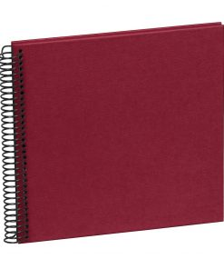 Sprial Piccolino, 20 black pages, efalin cover, burgundy | 4250540928128 | 354870
