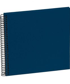 Sprial Piccolino, 20 black pages, efalin cover, marine | 4250540928104 | 354868